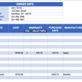 Inventory Tracking Sheet Excel