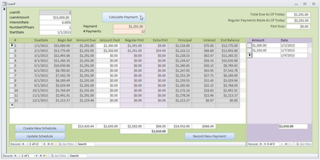 Loan Amortization Calculator By Payment Amount