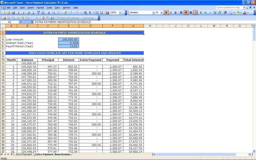 excel loan spreadsheet