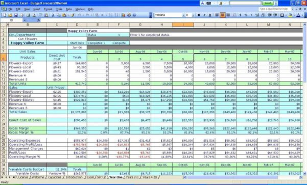 Make A Budget Spreadsheet