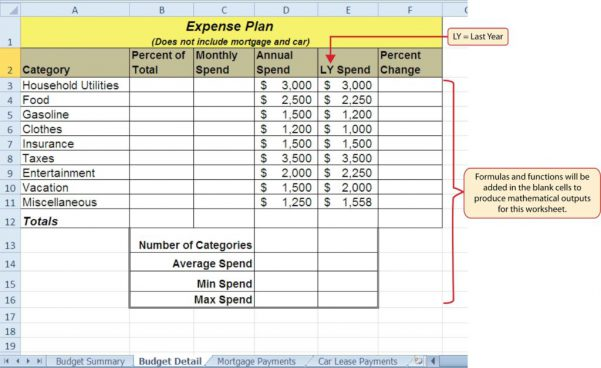 Microsoft Excel Math Formulas