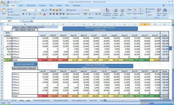 Microsoft Spreadsheet Templates