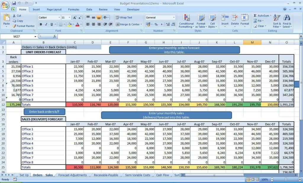 how to make a spreadsheet with microsoft office works