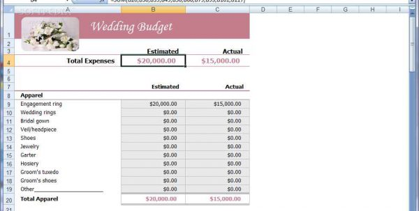Monthly Budget Templates Excel