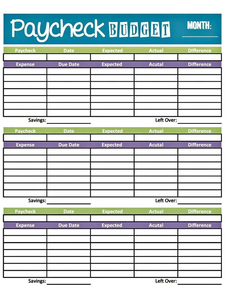 Monthly Budget Worksheet Example