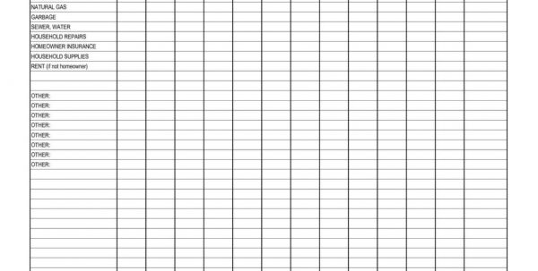 Monthly Expense Tracker Spreadsheet