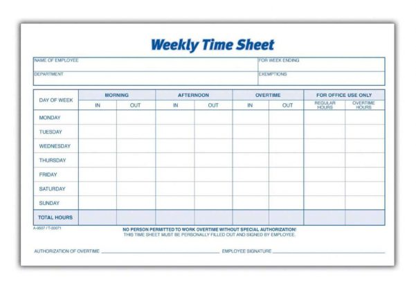 Monthly Timesheet Template Word