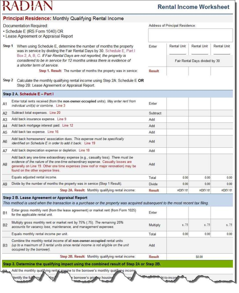 Mortgage Spreadsheet