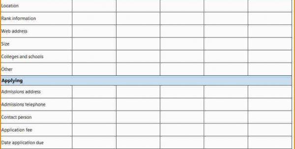 New Car Comparison Spreadsheet