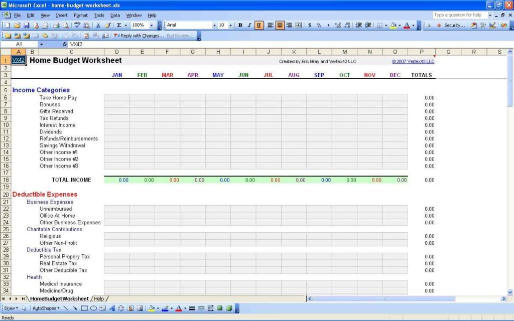 Personal budget spreadsheet template budget spreadsheet for Personnel budget template
