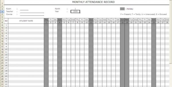 Printable Spreadsheet Templates Free