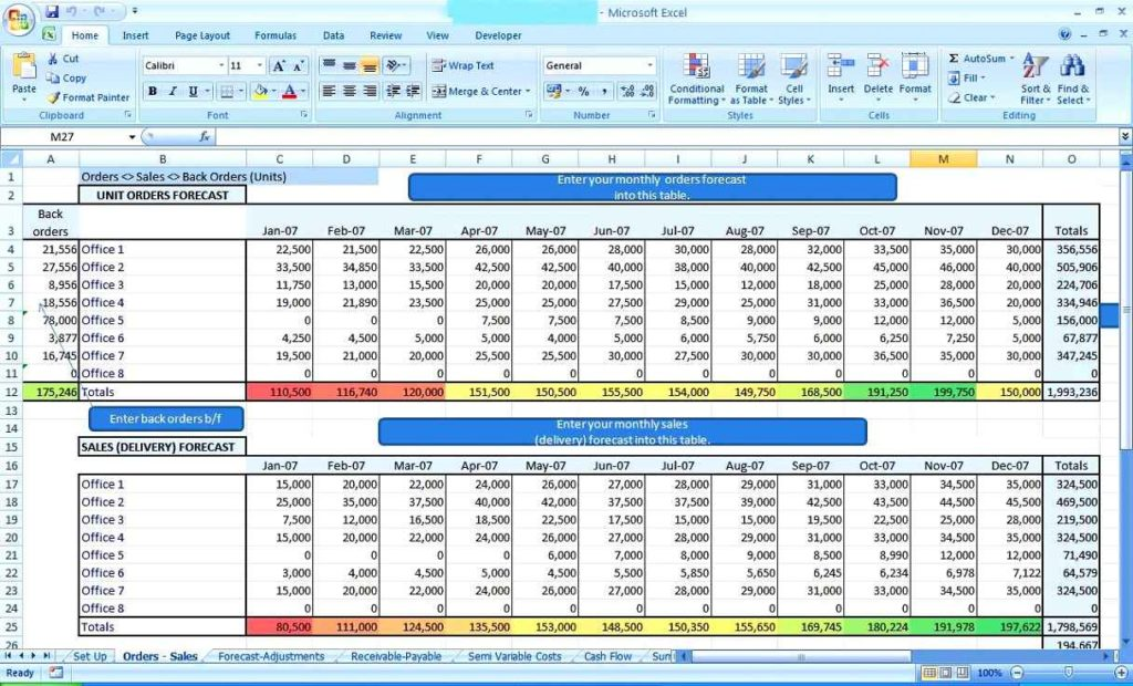 Project Management Spreadsheet Excel Template Free