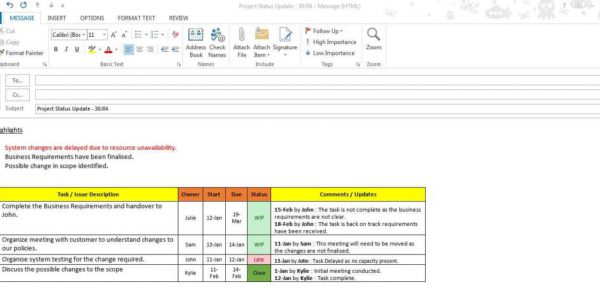 Project Management Spreadsheet Template Excel