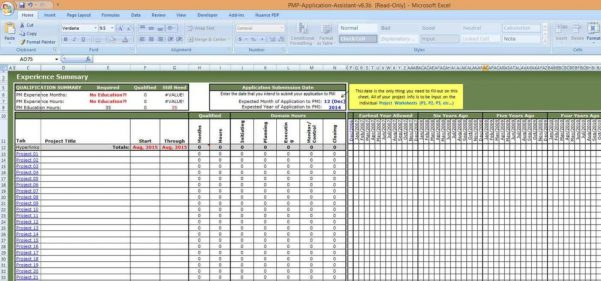 Project Tracking Spreadsheet Template Excel