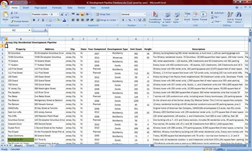 Real Estate Expense Tracking Spreadsheet