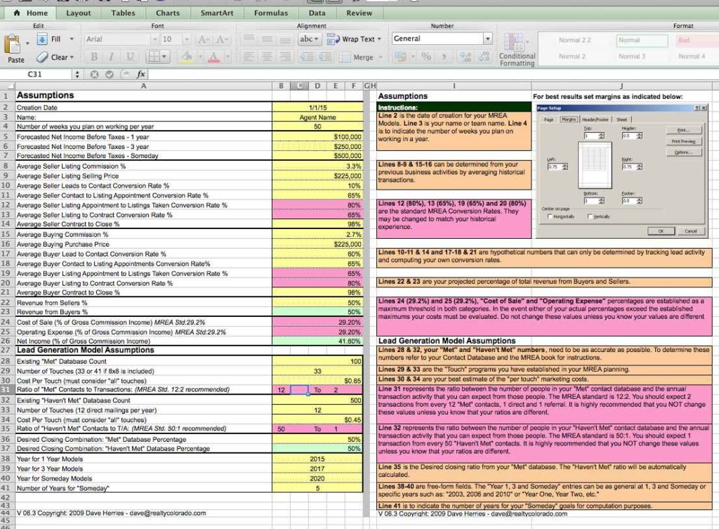 Real Estate Investment Evaluation Spreadsheet