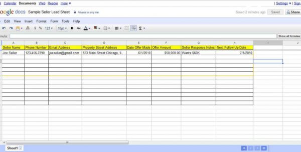 Real Estate Sales Tracking Spreadsheet