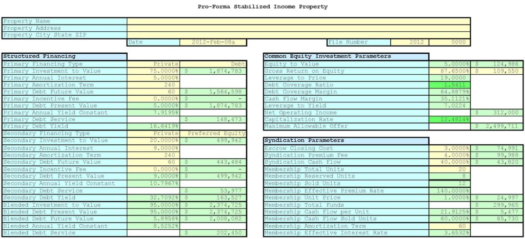 Real Estate Tracking Spreadsheet