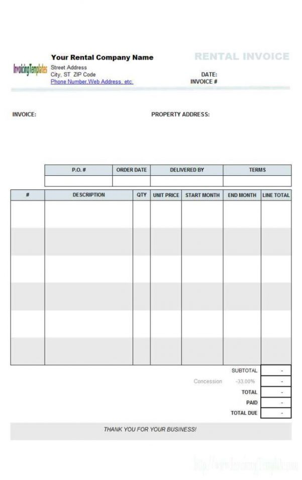 Rental Property Expenses Spreadsheet