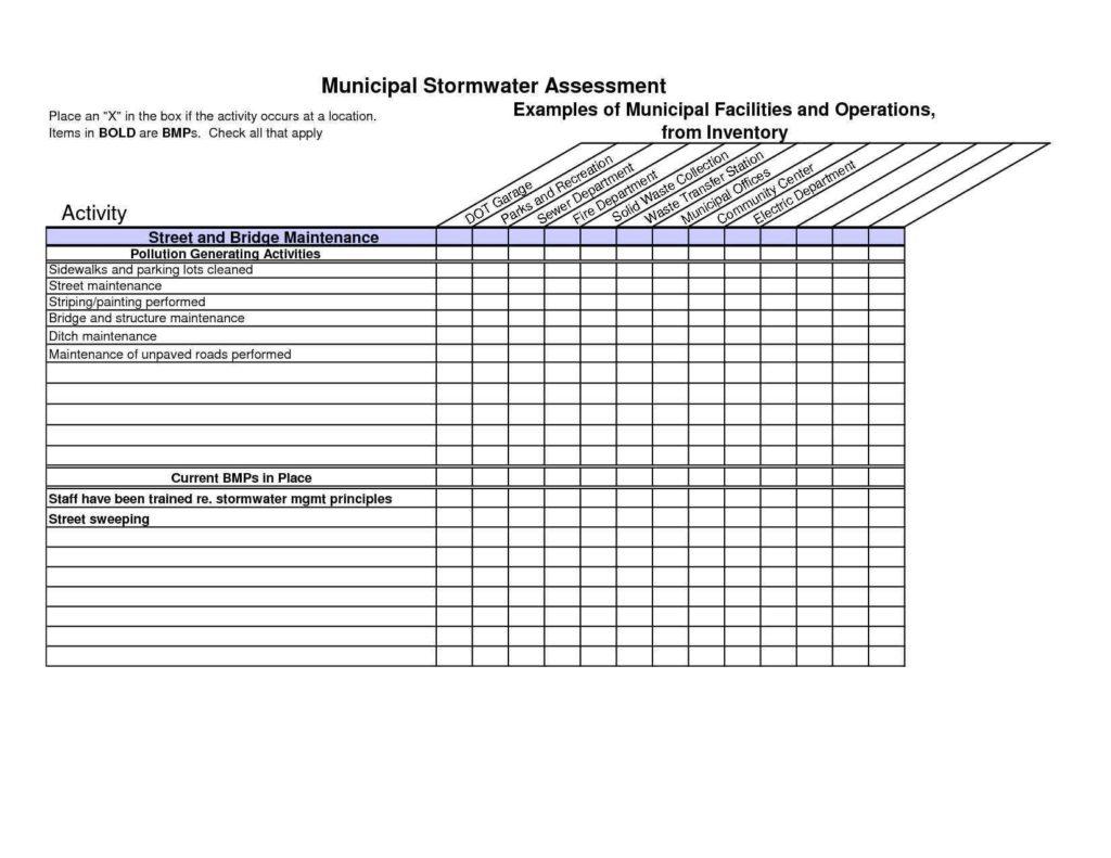 Restaurant Equipment Inventory Spreadsheet