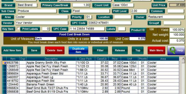 Restaurant Inventory Control Software