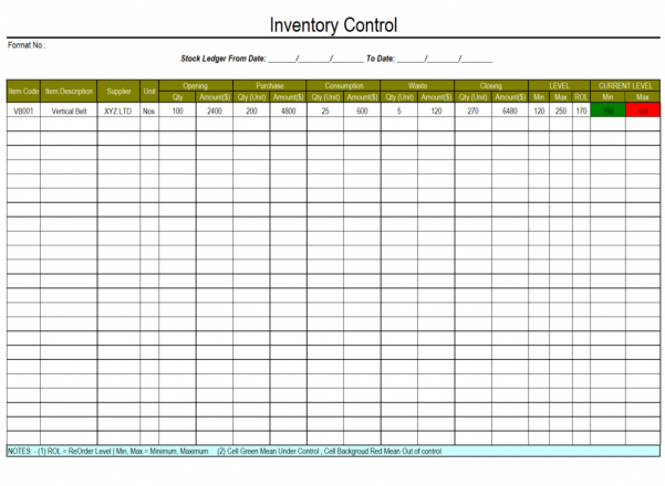 Sales And Inventory Management Spreadsheet Template Free