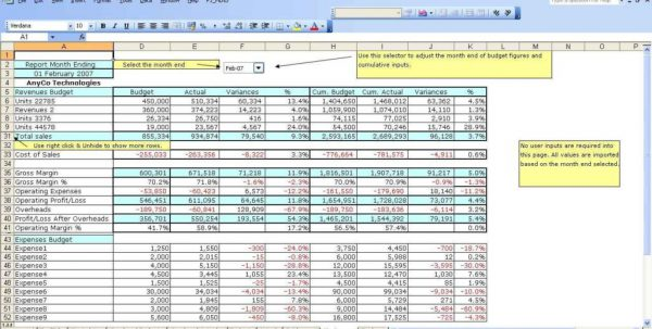 Sales Forecast Spreadsheetls