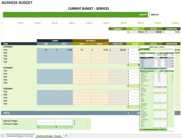 ... Sample Budget Spreadsheet For Small Business ...