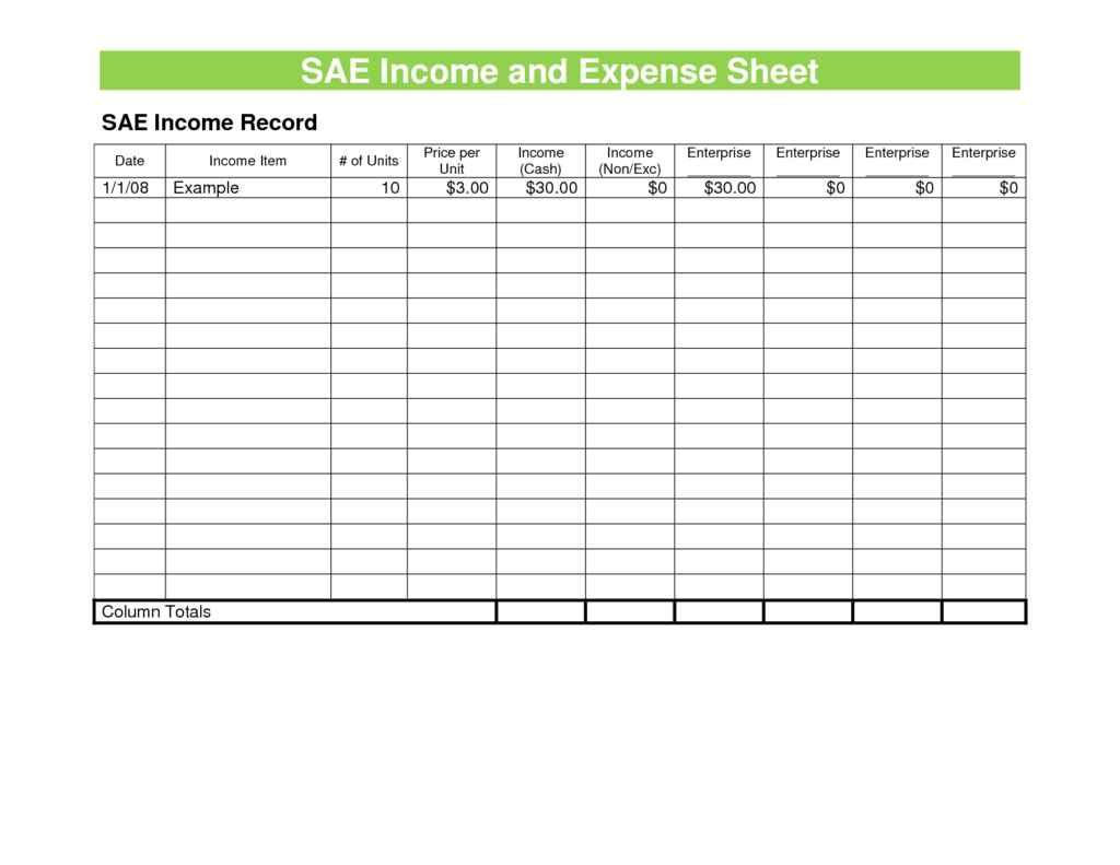 Sample Excel Budget Spreadsheet