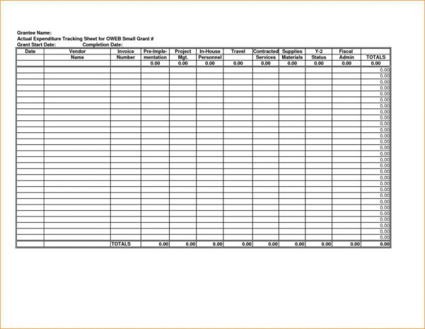 Sample Monthly Business Expenses Spreadsheet