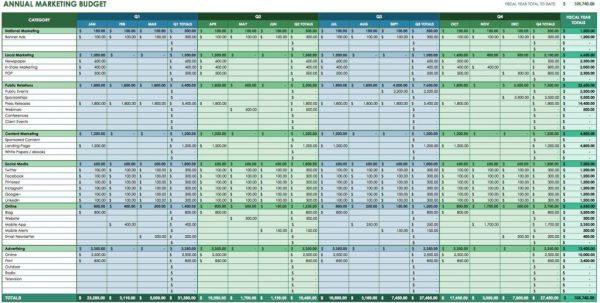 Sample Spreadsheet Budget