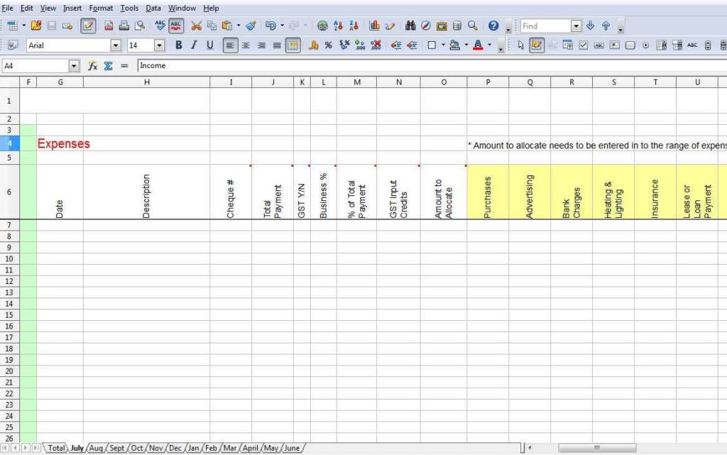 Sample Spreadsheet For Monthly Expenses1