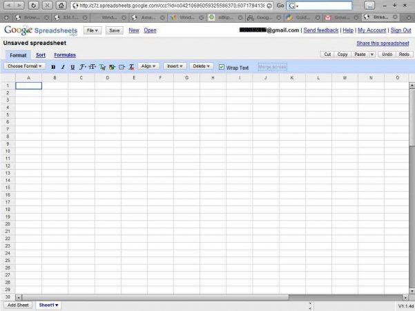 Sharing Spreadsheets
