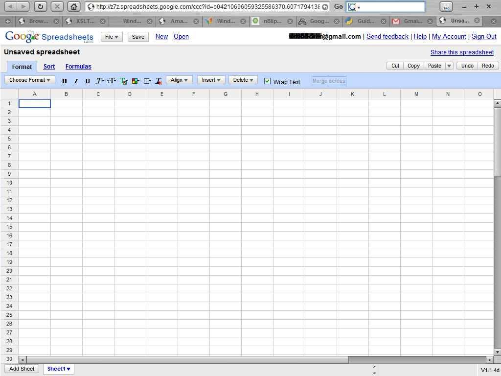 Sharing Spreadsheets