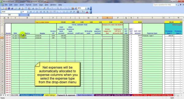 Small Business Accounting Spreadsheet Template Free