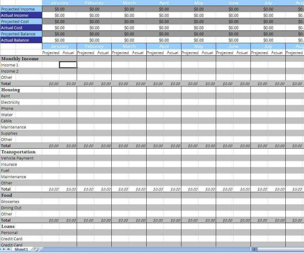 Small Business Excel Templates Accounting