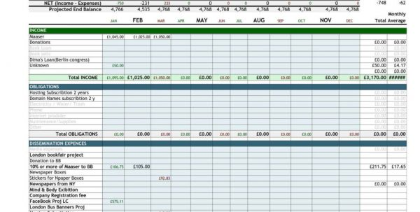 Small Business Income Expense Spreadsheet Template