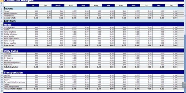Small Business Spreadsheet Templates Free