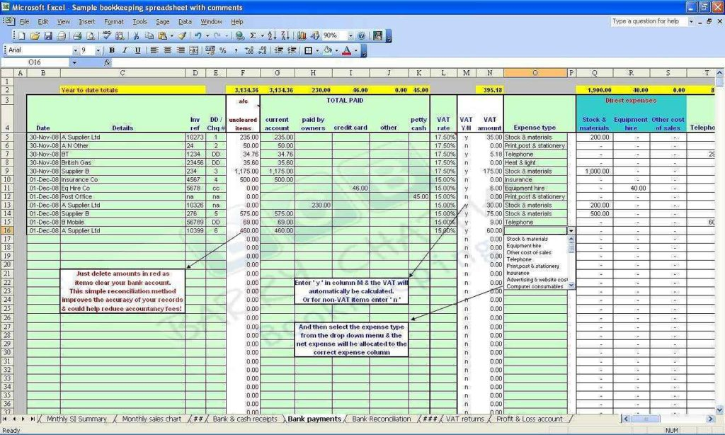 Sole Trader Accounts Spreadsheet Template Free1