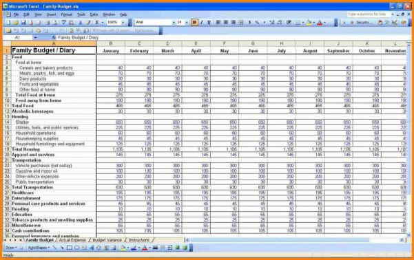 Free home budget spreadsheet for mac
