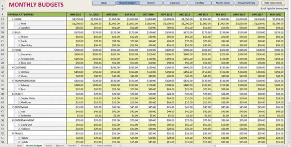 Spreadsheet Sample For Monthly Budget Spreadsheet Templates Budgets Budget Spreadsheet, Spreadsheet Templates for Business
