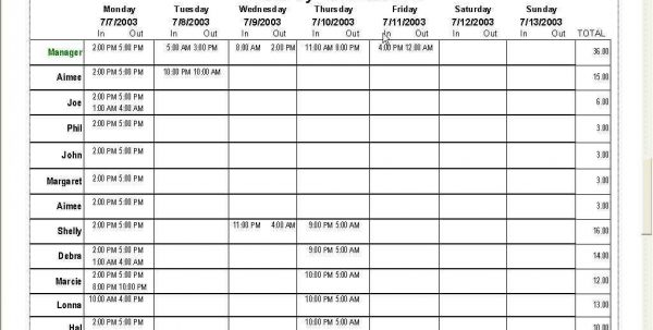 Tape Backup Schedule Spreadsheet Template