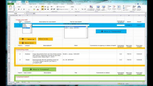 Task Spreadsheet