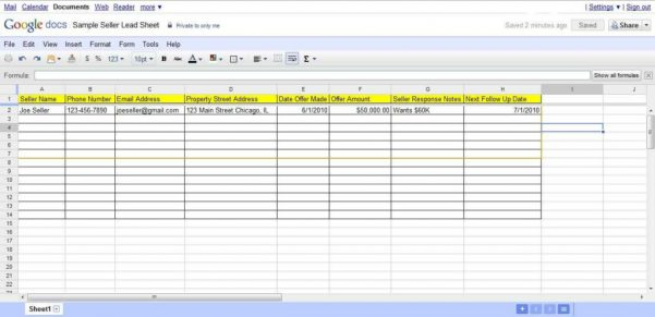 Using Google Spreadsheet For Project Management