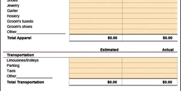 Sample Wedding Budget Spreadsheet Wedding Spreadsheet Budget ...