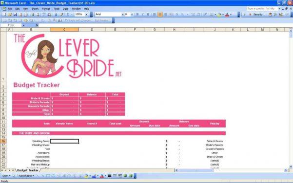 Wedding Spreadsheets Uk