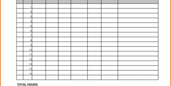 Yearly Timesheet Template Spreadsheet