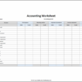 Accounts Payable Spreadsheet Template
