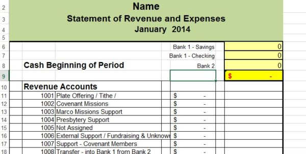 Expense Sheet For Small Business