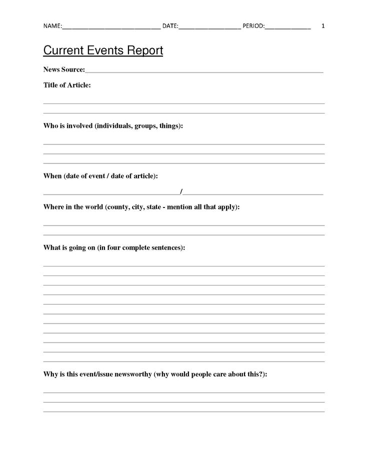 Best 25+ Current events worksheet ideas on Pinterest | Current ...